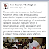 Hon Patrick Obahiagbon Speaks On The Crisis Rocking The National Assembly