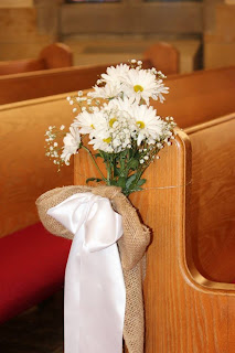 DIY Wedding Pew Bows