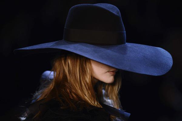 Saint Laurent Paris Spring/Summer 2013 Brimmed Hat
