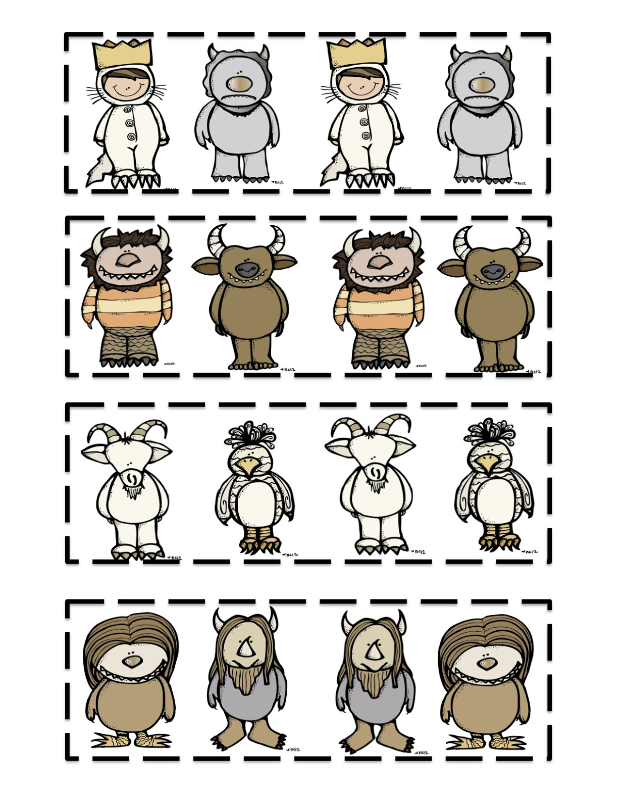 It's just a photo of Accomplished Where the Wild Things Are Printables for Free