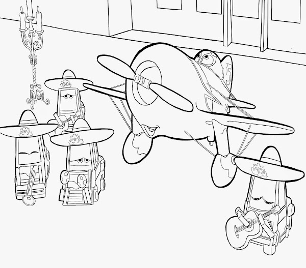 Disney Planes Dusty Coloring Pages