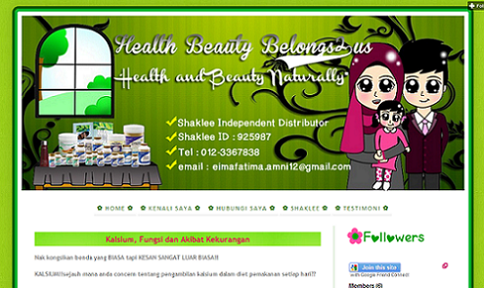 Tempahan : Full Blog Edit & Design For Health Beauty Belongs2us