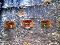 Vista des de l'interior d'un grup d'espitlleres de la Torre del Clos