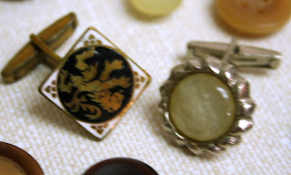 Vintage buttons: odd shirt buttons :: All Pretty Things