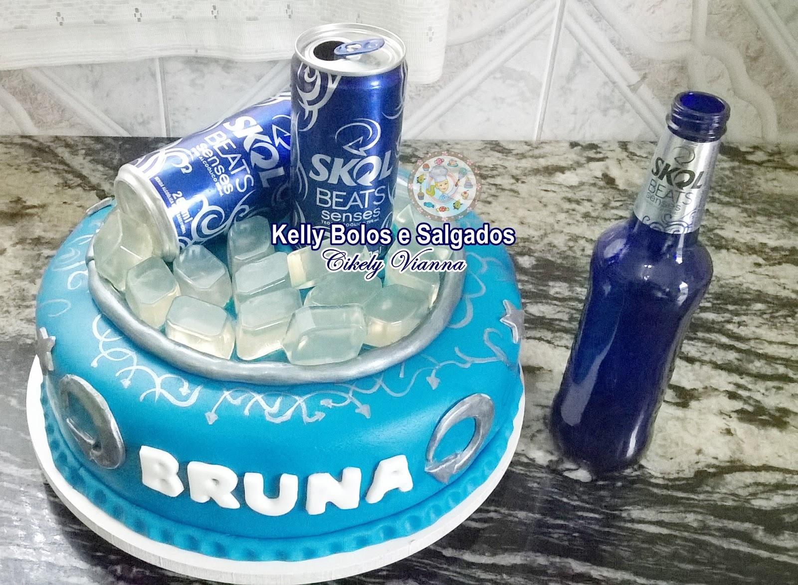 Suficiente Kelly Bolos e Salgados: Bolo Cerveja Skol Beats PK26