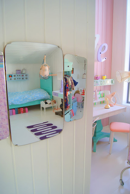 speilbildet+8 Bright Pastel Little Girls Room in Norwegian Style from Theas Mania