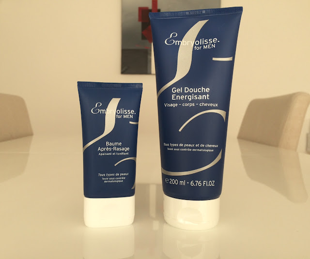 New Embryolisse men's line: shower gel and aftershave balm