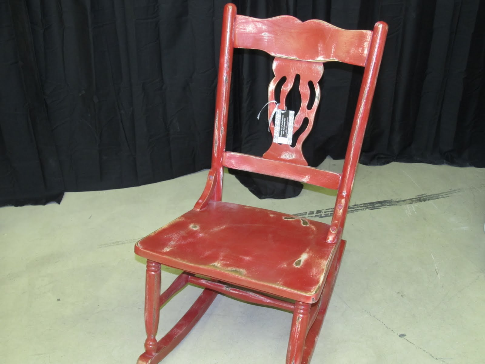 Revival Chic Boutique Distressed Red Rocking Chair $58