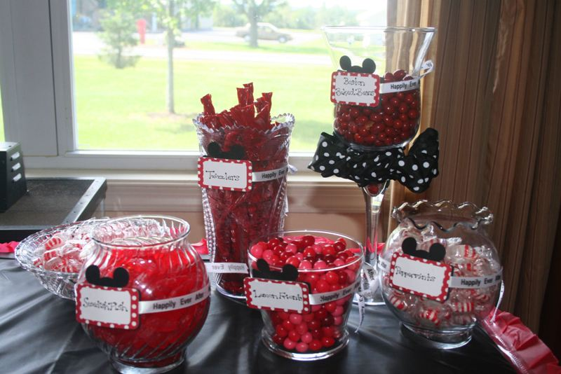 Mickey Mouse Bridal Shower Red And Black Candy Bar
