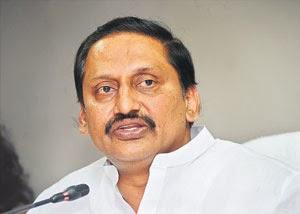 Chief Minister Kiran Kumar Reddy