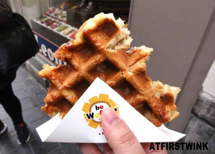 Belgian waffle near Manneken Pis, Brussels