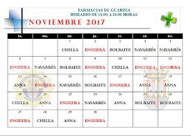 FARMACIA DE GUARDIA NOVIEMBRE 2017