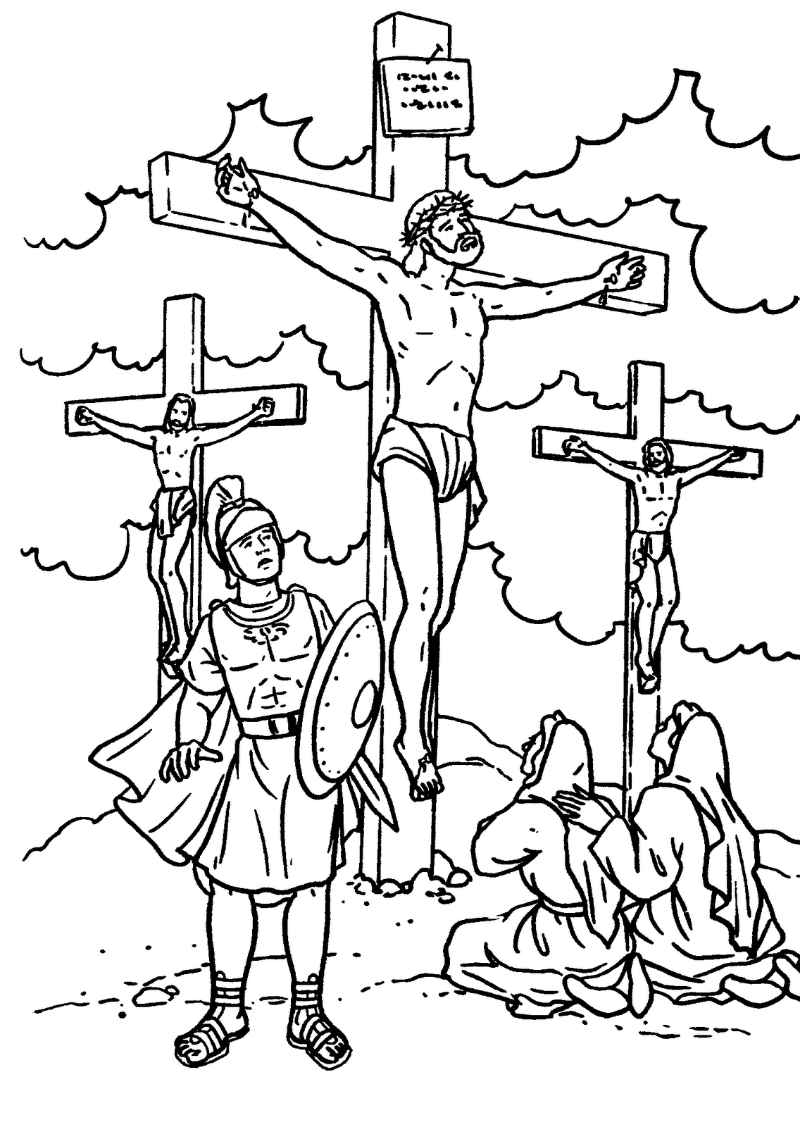 jesus died on cross coloring page