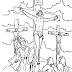 Desenhos - Jesus Crucificado - Colorir e pintar