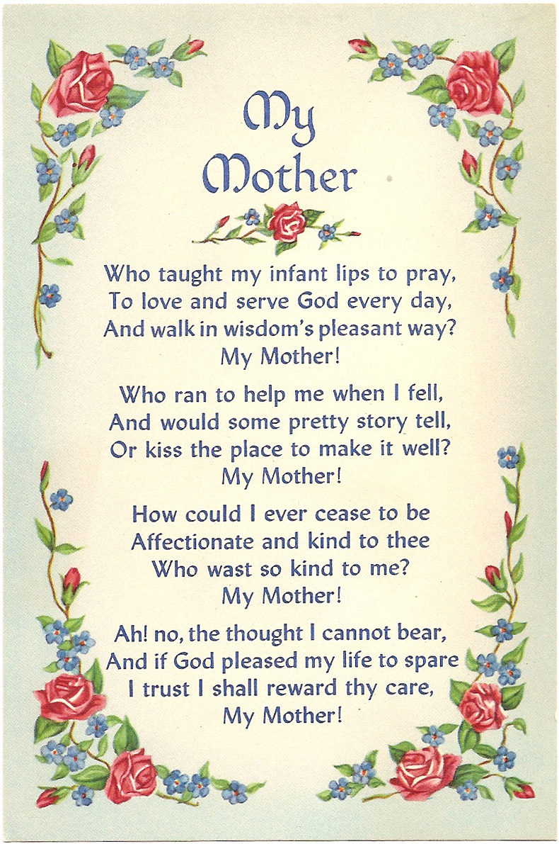 poem about the motherland The loss of a mother is difficult to handle, but reading one of these funeral poems for mother at her funeral will help you to express the grief you are.