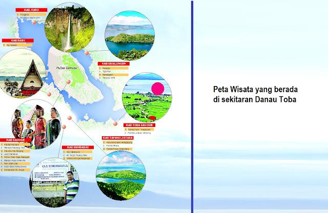 Peta Wisata yang berada di sekitaran Danau Toba Yang Indah