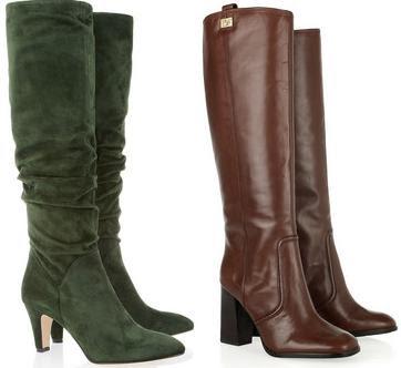 Контраст блоків жіночого взуття також