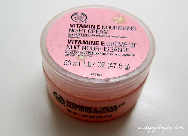 """Body Shop gece kremi"", ""E vitaminli krem"""