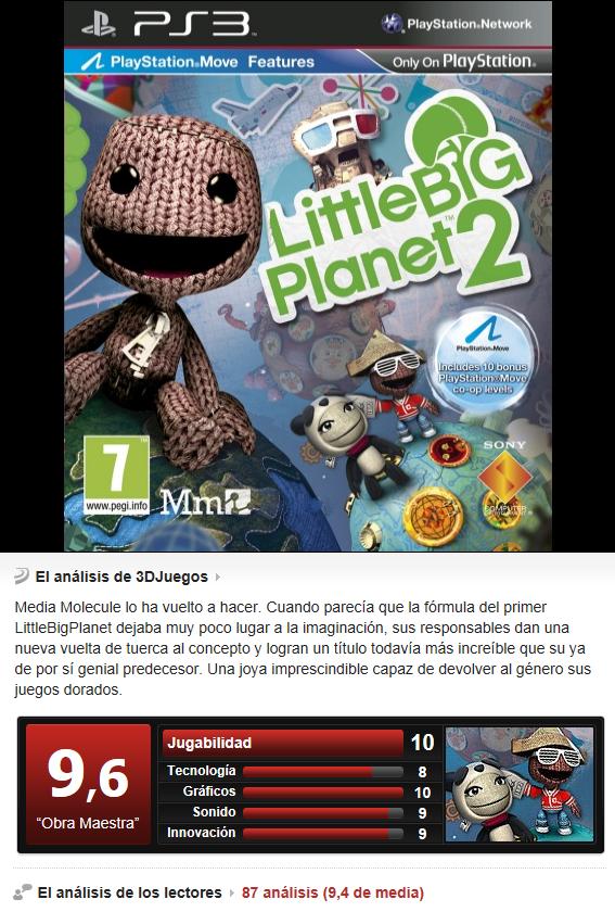 Little Big Planet 2 [PS3][3.55]Multi]