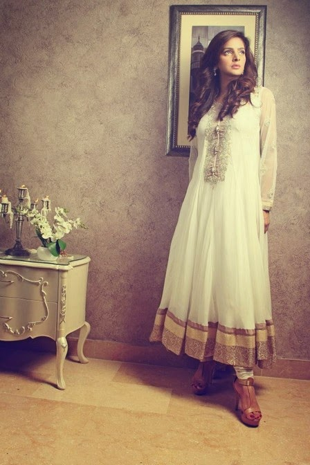 Party wear white dresses by rani siddiqi wwwfashionhuntworldblogspot 4  - Party Wear White Dresses 2014 By Rani Siddiqi