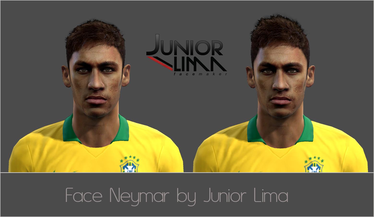 Face de Neymar Júnior by Junior Lima para PES 2013