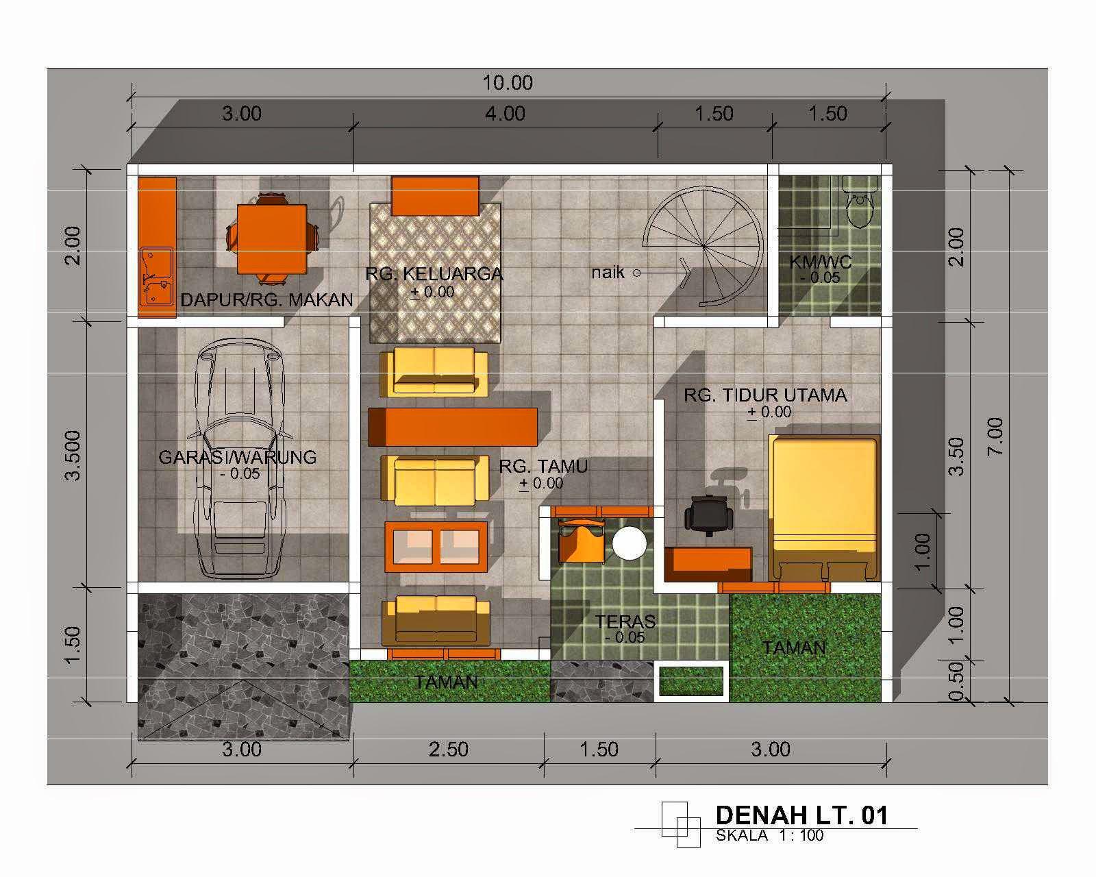 Desain Rumah Minimalis 1 Lantai Type 60 Gambar Foto Desain Rumah