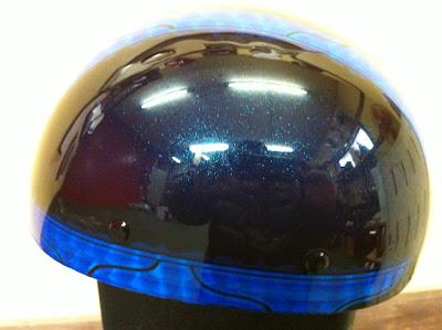 2044318454 - カスタムペイント工程  バッドボーンヘルメット シルバーリーフ スピニング