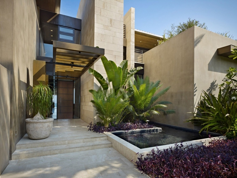 World of Architecture Gorgeous Modern Stone House On the