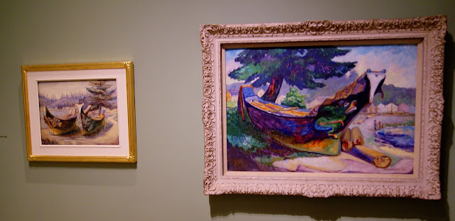 From the Forest to the Sea: Emily Carr in British Columbia Exhibit at Art Gallery of Ontario in Toronto, exhibition, paintings, forest, Canada, artist, woman, AGO, culture, art,artmatters, The Purple Scarf, Melanie.Ps, native, aboriginal, war canoes, alert bay