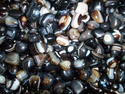 Black Banded Onex Tumbled Stones