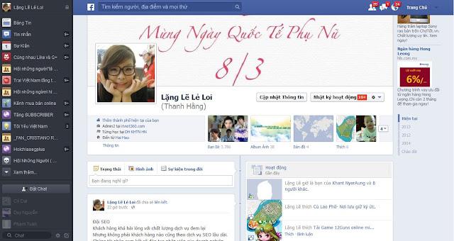 Giao dienj trang ca nhan FAcebook, FB giao dien moi