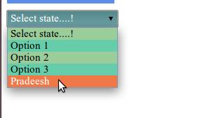 change color of drop down menu