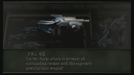 ... Evil: PRL 412 (Plaga Removal Laser
