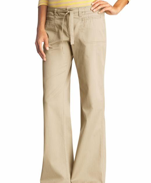Elegant Khaki Pants Women Style Khaki