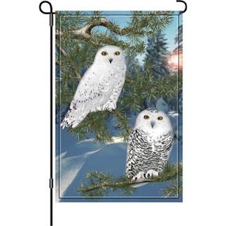 snowy owl garden flag