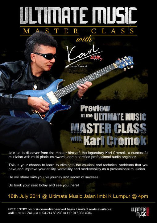 Event Ultimate Music Master Class with Karl Cromok