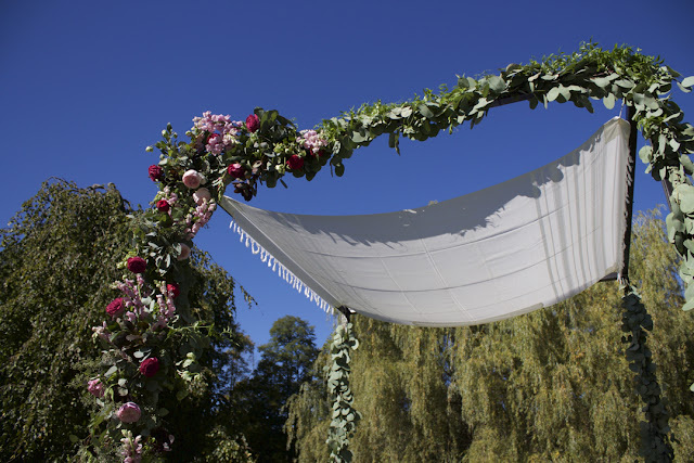 Wedding Chuppah (Arbor, Arch, Canopy) - Inn at Buttermilk Falls - Hudson Valley NY - Splendid Stems Floral Designs