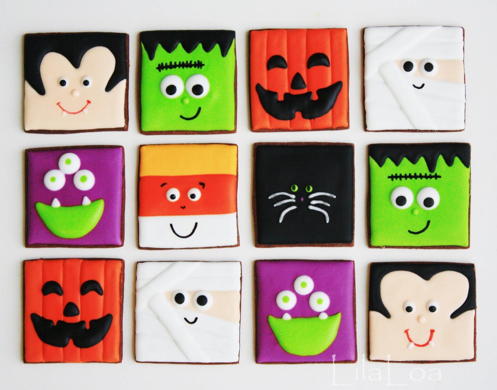 Halloween Cookies --NO cutter required! | LilaLoa: Halloween ...