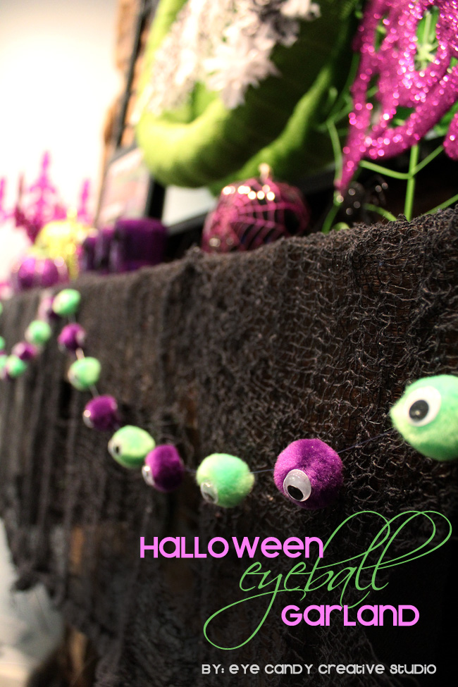 quick halloween craft idea, halloween decor, halloween mantel garland