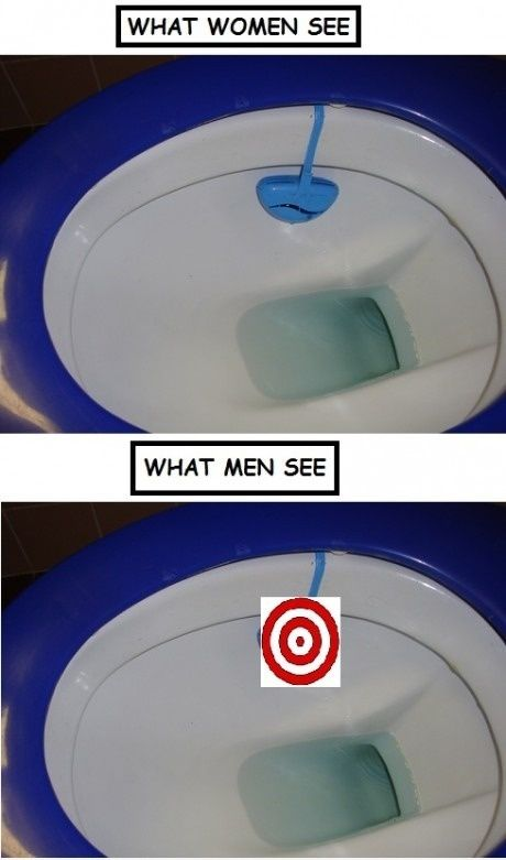 20 Hilarious But True Differences Between Men And Women - On toilets