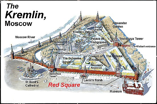 Kremlin Map Art Now and The...