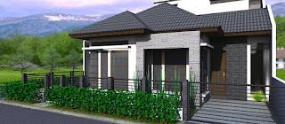 model rumah minimalis bagian depan