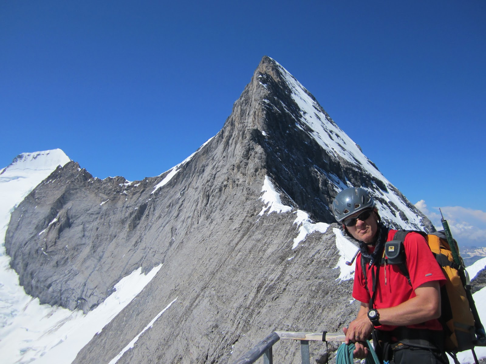 climbing trip reports eiger day 3 mitteleggi hut to