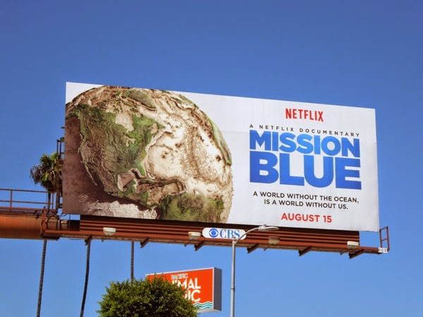 Mission Blue Netflix documentary film billboard