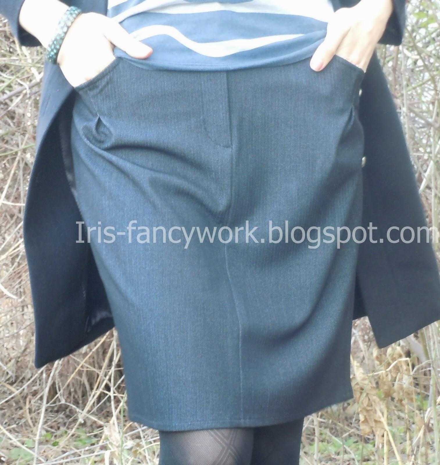 Выкройка прямой юбки от Анастасии Корфиати 10