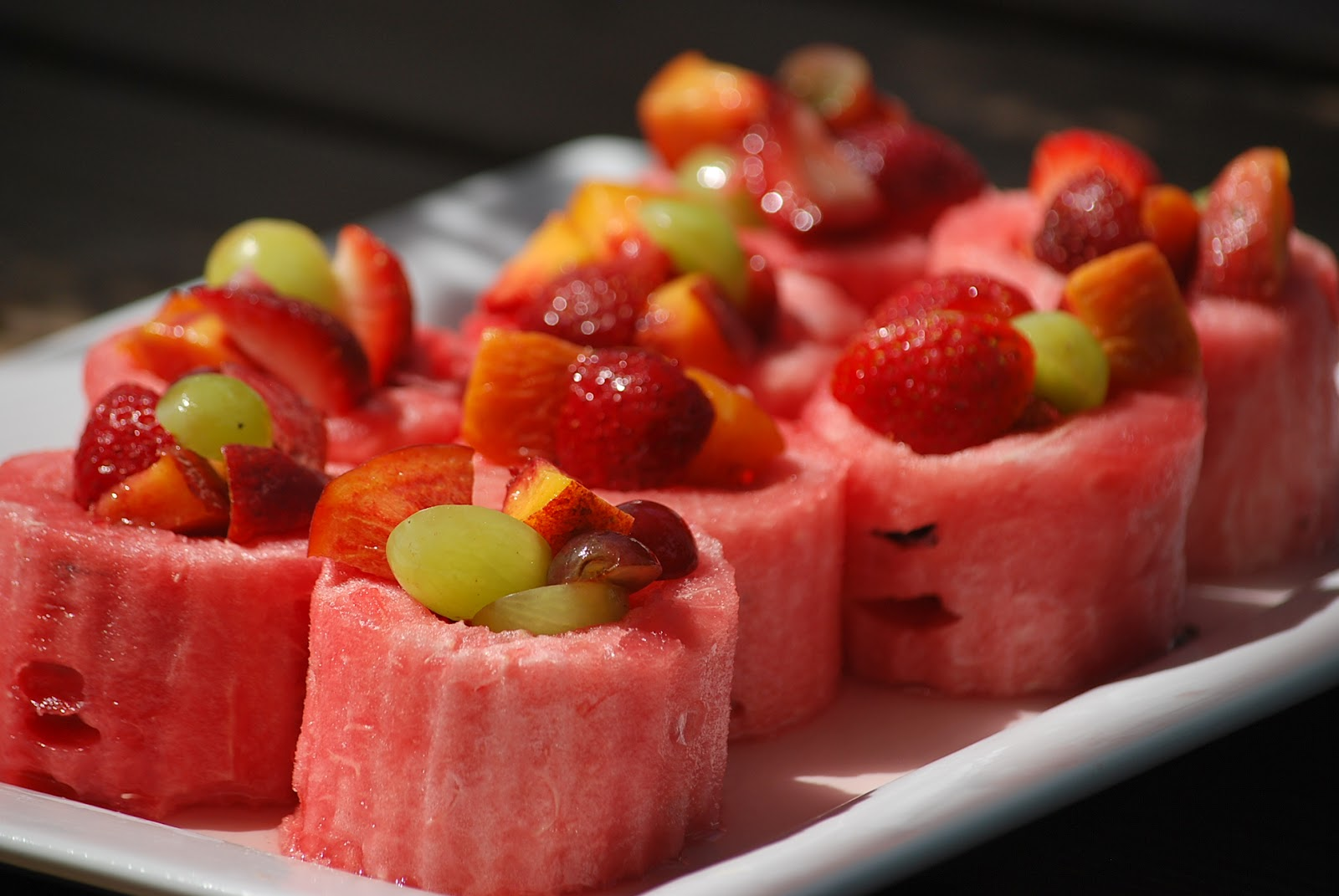 My story in recipes: Watermelon Cups and Watermelon Cape Cod