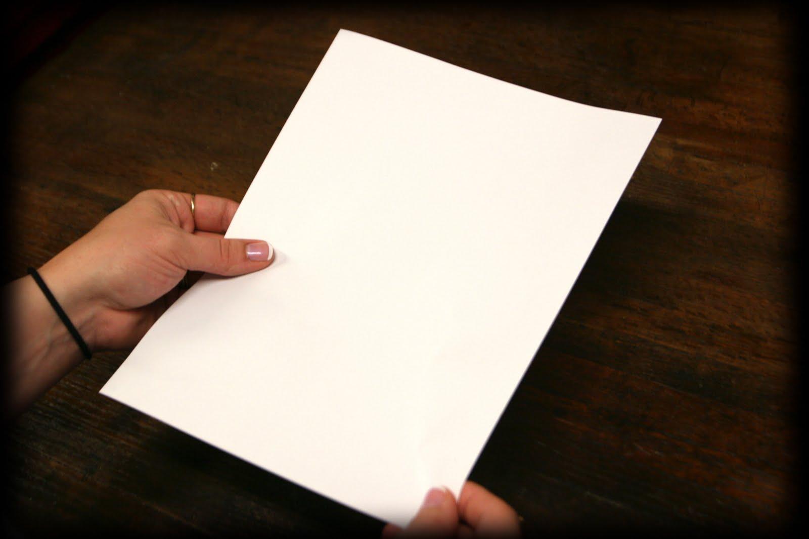 white paper to write on