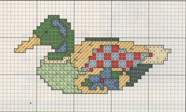 Nonsolodolciricette schema a punto croce anatra for Schemi punto croce animali