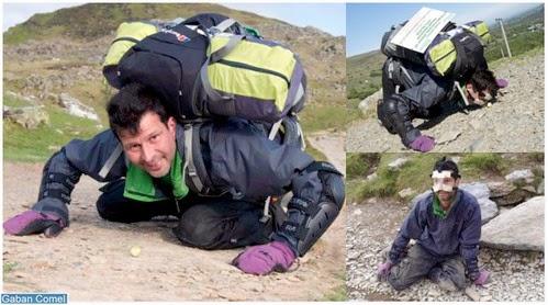 Lelaki ini Menolak Biji Brussels Sprouts ke Gunung Snowdon Menggunakan Hidungnya