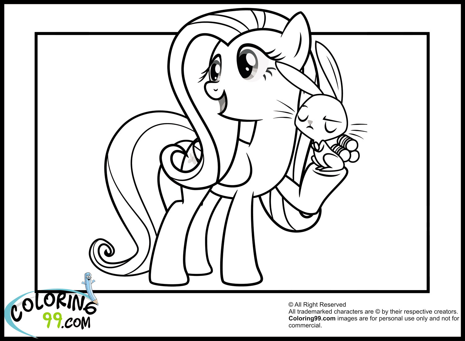 My Little Pony Fluttershy Coloring Pages Minister Coloring Fluttershy Coloring Page